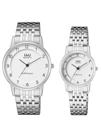 İkili Saat Set - Gümüş - Q&Q