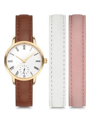 White - Pink - Brown - Watch - Nafisa 399189
