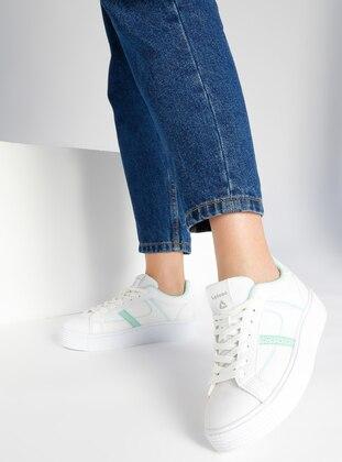 Spor Ayakkabı - Beyaz Turkuaz - Letoon Ürün Resmi