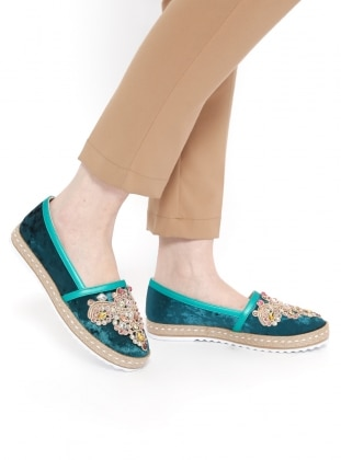 Green - Flat - Casual - Shoes