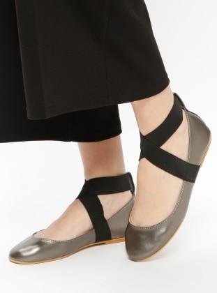 Black – Silver Tone – Flat – Flat Shoes – Bambi