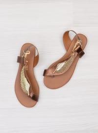 Sandalet - Bronz - Bambi