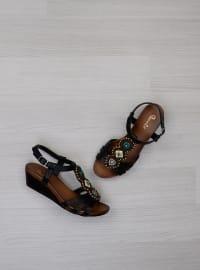 Sandalet - Siyah - Bambi