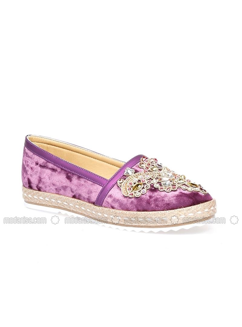Purple - Flat - Casual - Shoes