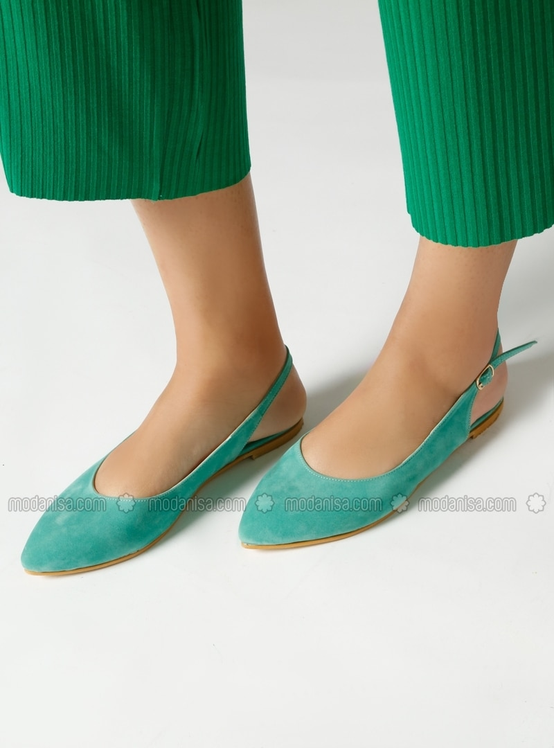 Green Flat Shoes Flatshoes