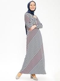 Kolyeli Elbise - Pudra - Ginezza