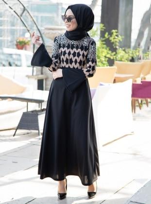 Black - Minc - Multi - Unlined - Dresses