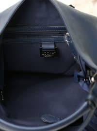 Navy Blue - Satchel - Bag