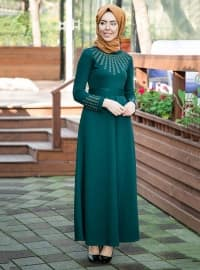 İncili Elbise - Zümrüt - İnşirah