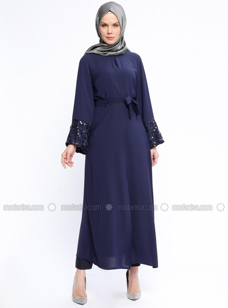 Navy Blue - Unlined - Abaya