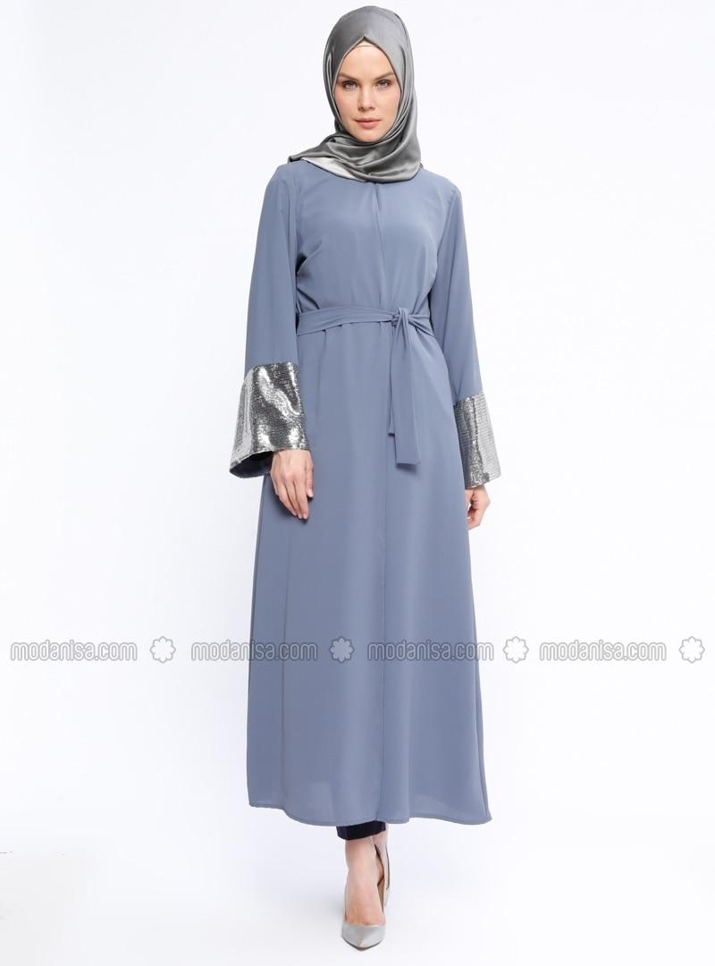 Gray - Unlined - Abaya