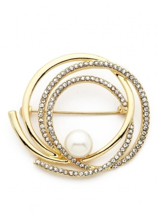 Golden tone - Brooch - Modex
