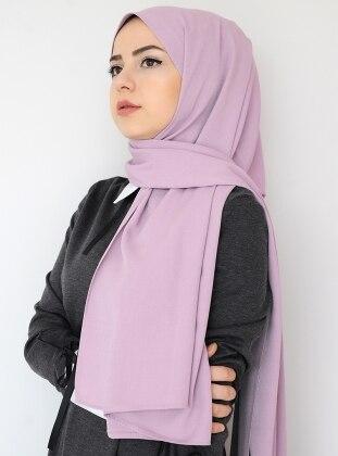 Purple - Plain - Crepe - Shawl