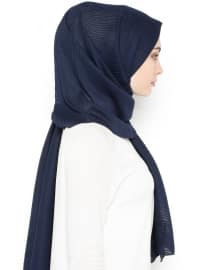 Navy Blue - Plain - Shawl