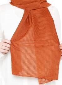 Orange - Plain - Shawl
