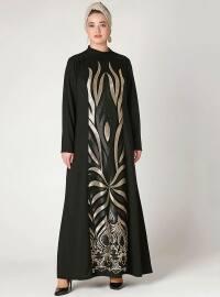 Sultan Tesettür Abiye Elbise - Siyah - Nesrin Emniyetli