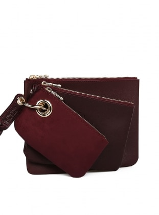 Maroon - Clutch - Bag