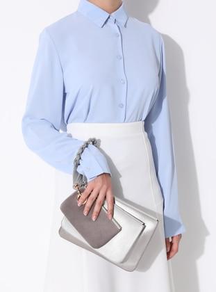 Gray - Clutch - Bag