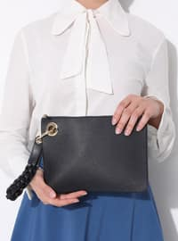 Navy Blue - Clutch - Bag