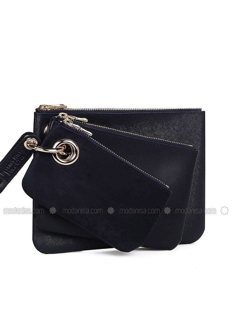 Navy Blue - Clutch - Bag