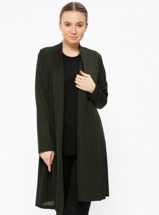 Khaki Plus Size Jackets Shop Womens Plus Size Jackets Modanisa