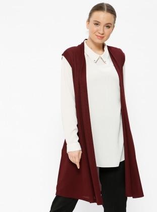 Maroon - Plus Size Vest