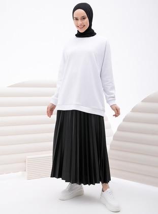 Black - Unlined - Skirt - İnşirah