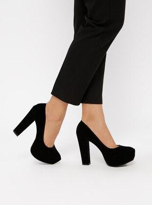 fc26f064a أسود - حذاء كعب عالي - احذيه كعب عالى