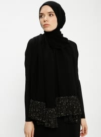 Black - Plain - Shawl - Ferrace By