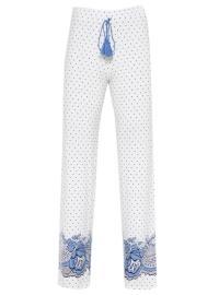 Ecru - V neck Collar - Multi - Pyjama