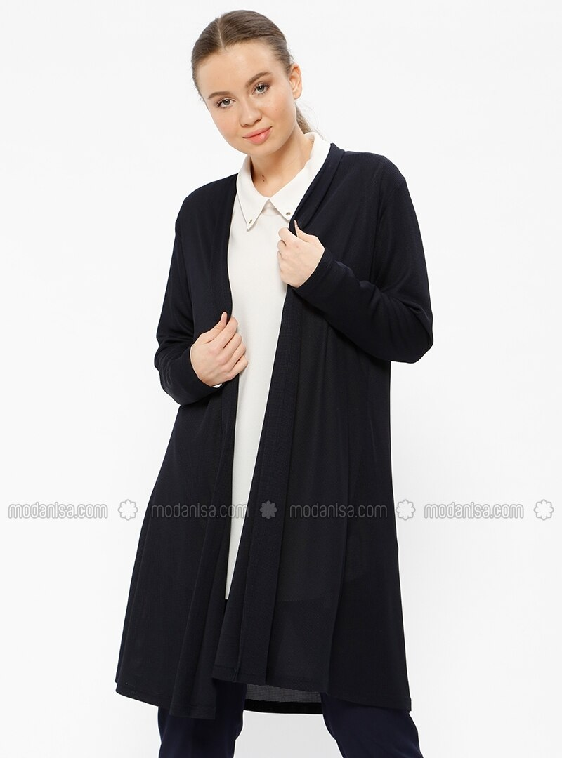 Navy Blue - Unlined - Plus Size Jacket