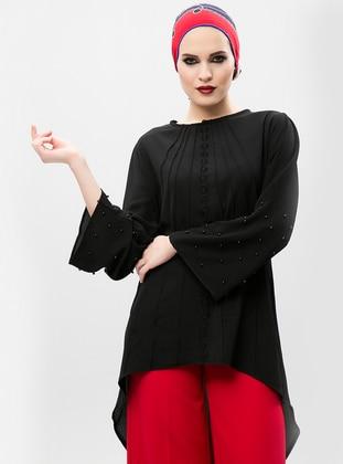 İnci Detaylı Tunik - Siyah - NEW LAVIVA Ürün Resmi