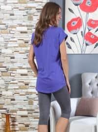 Purple - Crew neck - Multi - Pyjama