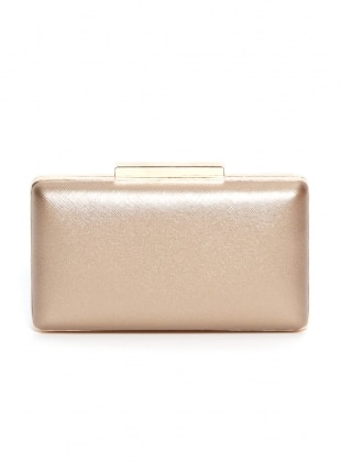 Brown - Minc - Gold - Clutch - Satchel - Bag - Varolli