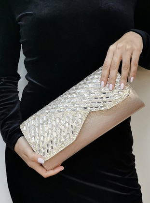 Gold - Gold - Clutch - Clutch Bags / Handbags