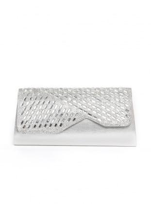 Silver tone - Silver tone - Clutch - Clutch Bags / Handbags