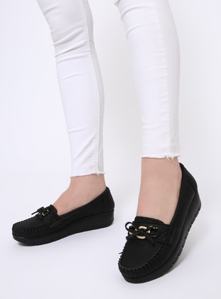 Black - Flat - Flat Shoes - Zenneshoes
