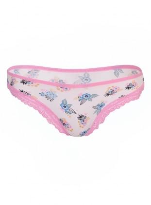 Pink - Ecru - Panties