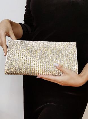 Gold - Gold - Clutch - Clutch Bags / Handbags