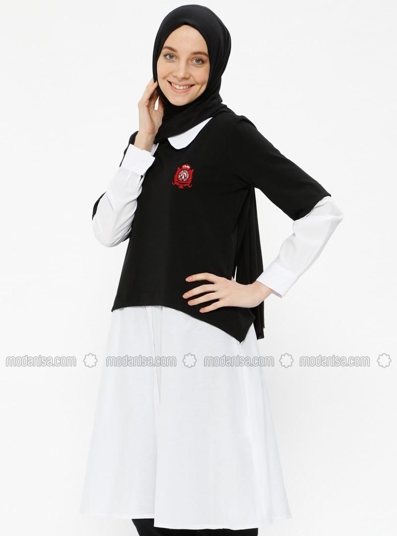 Black - Round Collar - Tunic 0112cd8f6