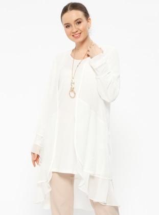 White Plus Size Suits Shop Womens Plus Size Suits Modanisa
