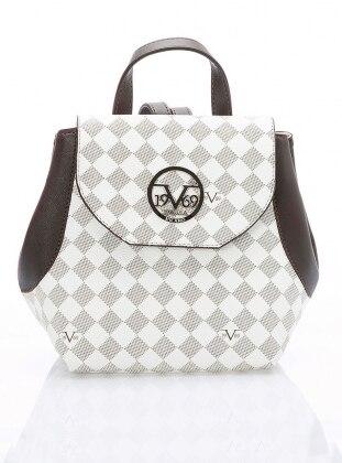 Brown - Beige - Backpack - Bag