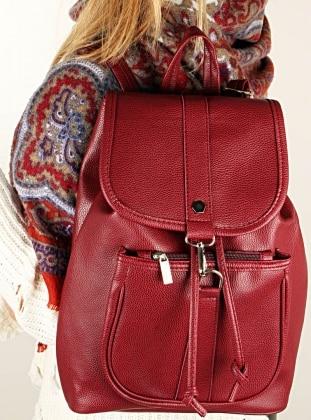 Maroon - Backpack - Bag - Luwwe