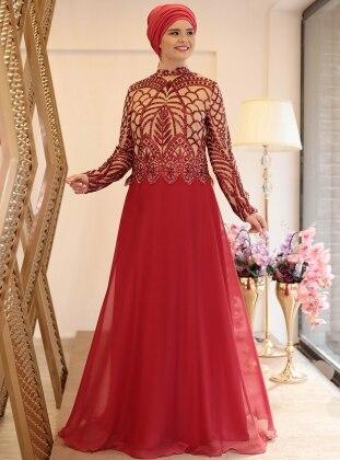 2faa5bd0e47 Red Muslim Plus Size Evening Dresses - Shop Women s Muslim Plus Size ...