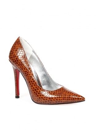 Sitill Topuklu Ayakkabı - Taba