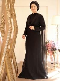Bade Abiye Elbise - Siyah - Saliha