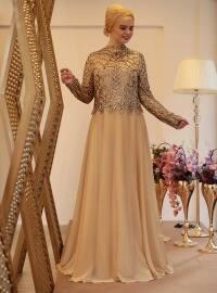 Ecrin Abiye Elbise - Gold - Saliha