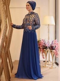 Ecrin Abiye Elbise - Saks - Saliha