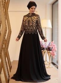 Ecrin Abiye Elbise - Siyah - Saliha