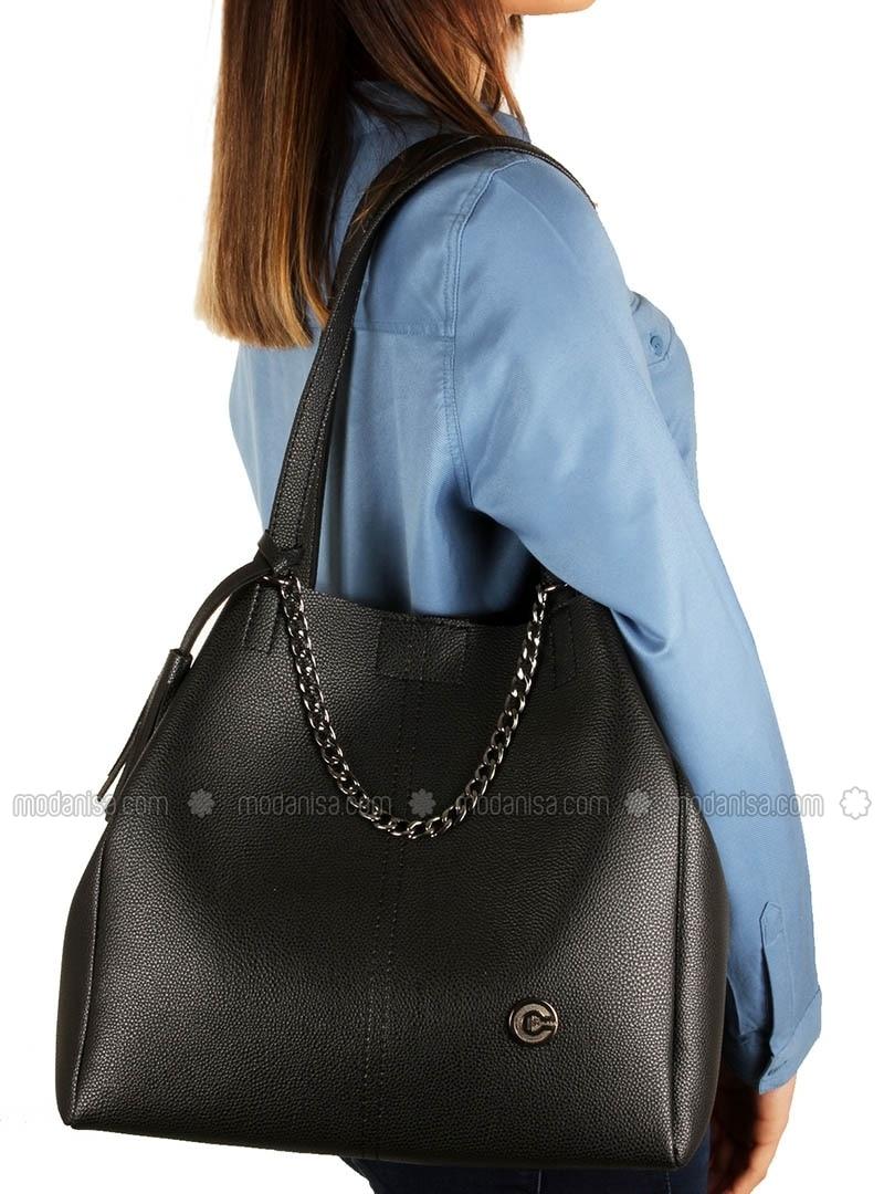Black - Satchel - Bag - Luwwe